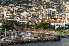 Cityscape of Funchal, Madeira Island, Portugal Royalty Free Stock Photography