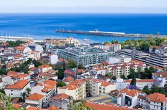 Cityscape of Funchal, Madeira island, Portugal Royalty Free Stock Image
