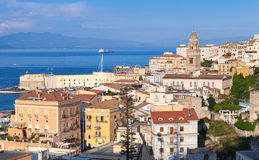 Cityscape of Gaeta town in summertime, Italy Royalty Free Stock Photos