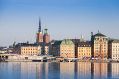 Cityscape of Gamla Stan city district Stock Images