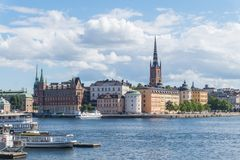 Cityscape of Gamla stan, the old town in Stockholm, Sweden. Cityscape of Gamla stan, the old town in central Stockholm, Sweden royalty free stock images