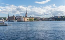 Cityscape of Gamla stan, the old town in Stockholm, Sweden. Cityscape of Gamla stan, the old town in central Stockholm, Sweden royalty free stock photos