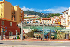Cityscape and Gare de Monaco Royalty Free Stock Image