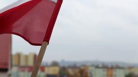 Cityscape Gdansk Brzezno. Celebration Independence day. Royalty Free Stock Photography