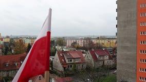Cityscape Gdansk Brzezno. Celebration Independence day. Stock Image