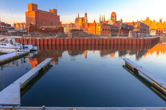 Cityscape of Gdansk from local marina Stock Photos