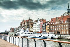 Cityscape of Gdansk Royalty Free Stock Photos