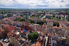 Cityscape of Gdansk, Poland Stock Photography