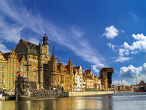 Cityscape of Gdansk in Poland Royalty Free Stock Photos