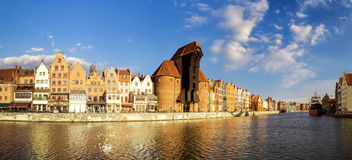 Cityscape of Gdansk in Poland Royalty Free Stock Photography