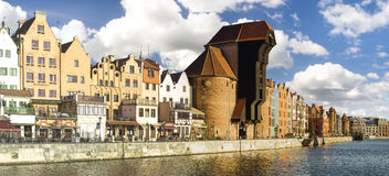 Cityscape of Gdansk in Poland Royalty Free Stock Images