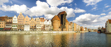 Cityscape of Gdansk in Poland Royalty Free Stock Image