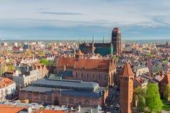 Cityscape of Gdansk, Poland Stock Photography