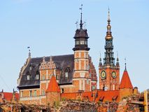Cityscape of Gdansk, Poland Royalty Free Stock Photos