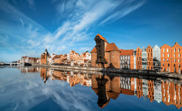 Cityscape of Gdansk, view across the river Stock Image