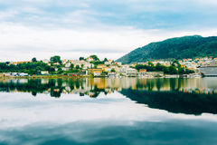 Cityscape, general architecture of Bergen, Norway Stock Photos