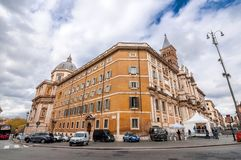 Cityscape and generic architecture from Rome, the Italian capital stock photography