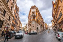 Cityscape and generic architecture from Rome, the Italian capital stock photos
