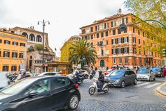 Cityscape and generic architecture from Rome, the Italian capital royalty free stock photo