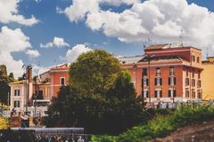 Cityscape and generic architecture from Rome, the Italian capital. Rome, Italy - April 5, 2019: Cityscape and generic architecture from Rome, the Italian capital stock images