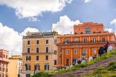 Cityscape and generic architecture from Rome, the Italian capital. Rome, Italy - April 5, 2019: Cityscape and generic architecture from Rome, the Italian capital royalty free stock image