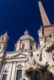 Navona Square in Rome, Italy. Cityscape and generic architecture from Rome, the Italian capital. Navona Square stock photo