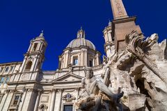 Navona Square in Rome, Italy. Cityscape and generic architecture from Rome, the Italian capital. Navona Square royalty free stock image