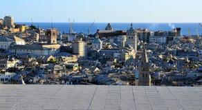 cityscape genoa italy Arkivbild