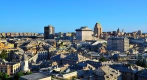 cityscape genoa italy Arkivfoto
