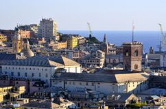 Cityscape of Genoa, Italy Royalty Free Stock Photo