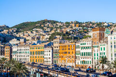 Cityscape of Genoa, Italy Stock Images