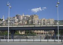 Cityscape, Genua, Italië stock foto's