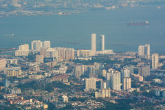 Cityscape of George Town in Penang, Malaysia Stock Images