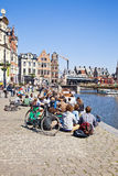 Cityscape. Ghent Royalty Free Stock Photography