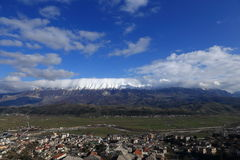 Cityscape of Gjirokaster, Albania Royalty Free Stock Photography