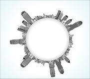 Cityscape globe  Royalty Free Stock Images