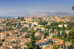 Cityscape - Granada, Spain Stock Images