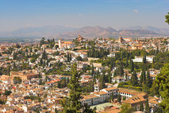 Cityscape - Granada. Spanish city Royalty Free Stock Photo