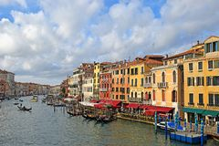 Cityscape on the Grand Canal in Venice. Venice, Italy - January 30, 2019: cityscape on the Grand Canal in Venice royalty free stock photography