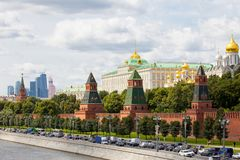 Cityscape with Grand Kremlin Palace, Moscow, Russia Royalty Free Stock Images