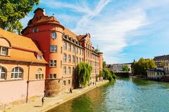 Cityscape of the Grande Ile in Strasbourg, France royalty free stock photo