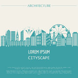 Cityscape graphic template. Modern city architecture.  Stock Photo