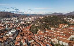 CItyscape of Graz, Austria stock photography
