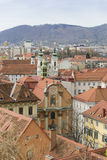 Cityscape Graz Österrike Arkivfoton