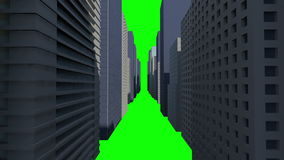 Cityscape on green background vector illustration