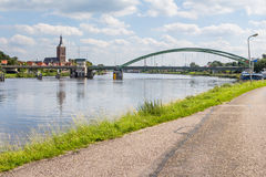 Cityscape Green Bridge Hasselt Holland Stock Photos