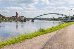 Cityscape Green Bridge Hasselt Holland Stock Photos