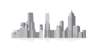 Cityscape grey vector illustration