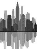 Cityscape Grey View. This is from my series of cityscapes Royalty Free Illustration