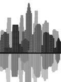 Cityscape Grijze Mening Royalty-vrije Stock Fotografie